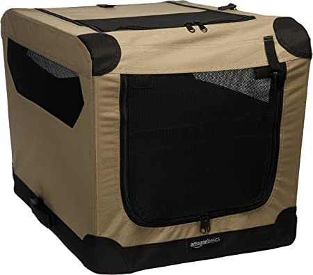 Amazon Basics Portable Folding Soft Dog Travel Crate - Fantastic For Small Dogs