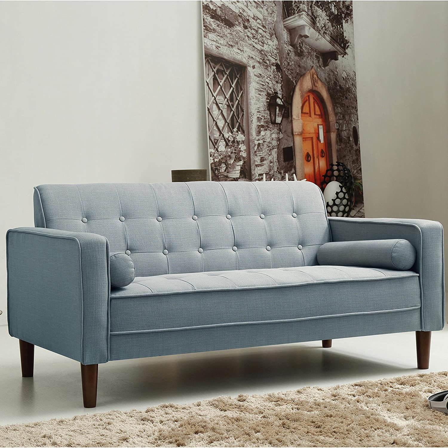 Amazon Standard Design Isaac Sofa Made w Linen Foam and