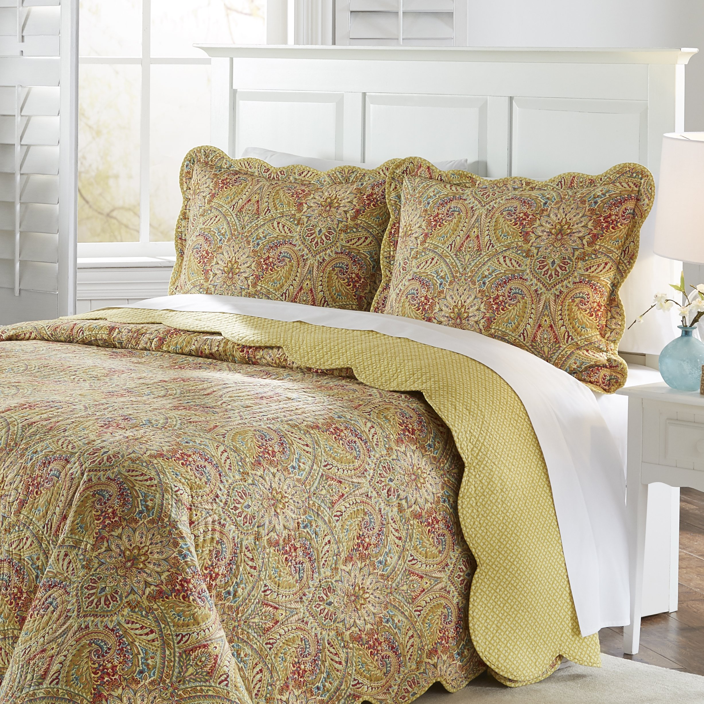 Waverly Swept Away Bedspread Collection, 110x120, Berry by Waverly (Image #6)