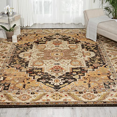 Nourison Delano Traditional Oriental Persian Black Area Rug, 7 10 x 10 10