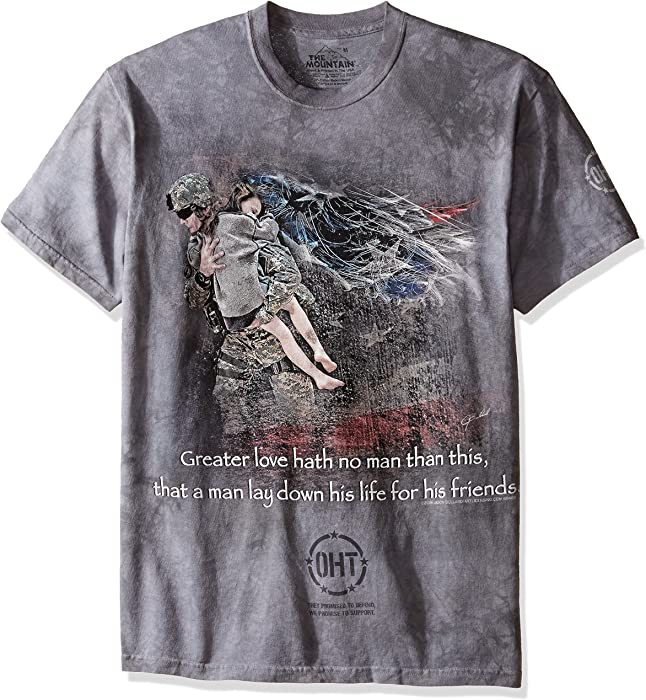 349881e6abe Amazon.com  The Mountain Heroic Soldier Adult T-Shirt