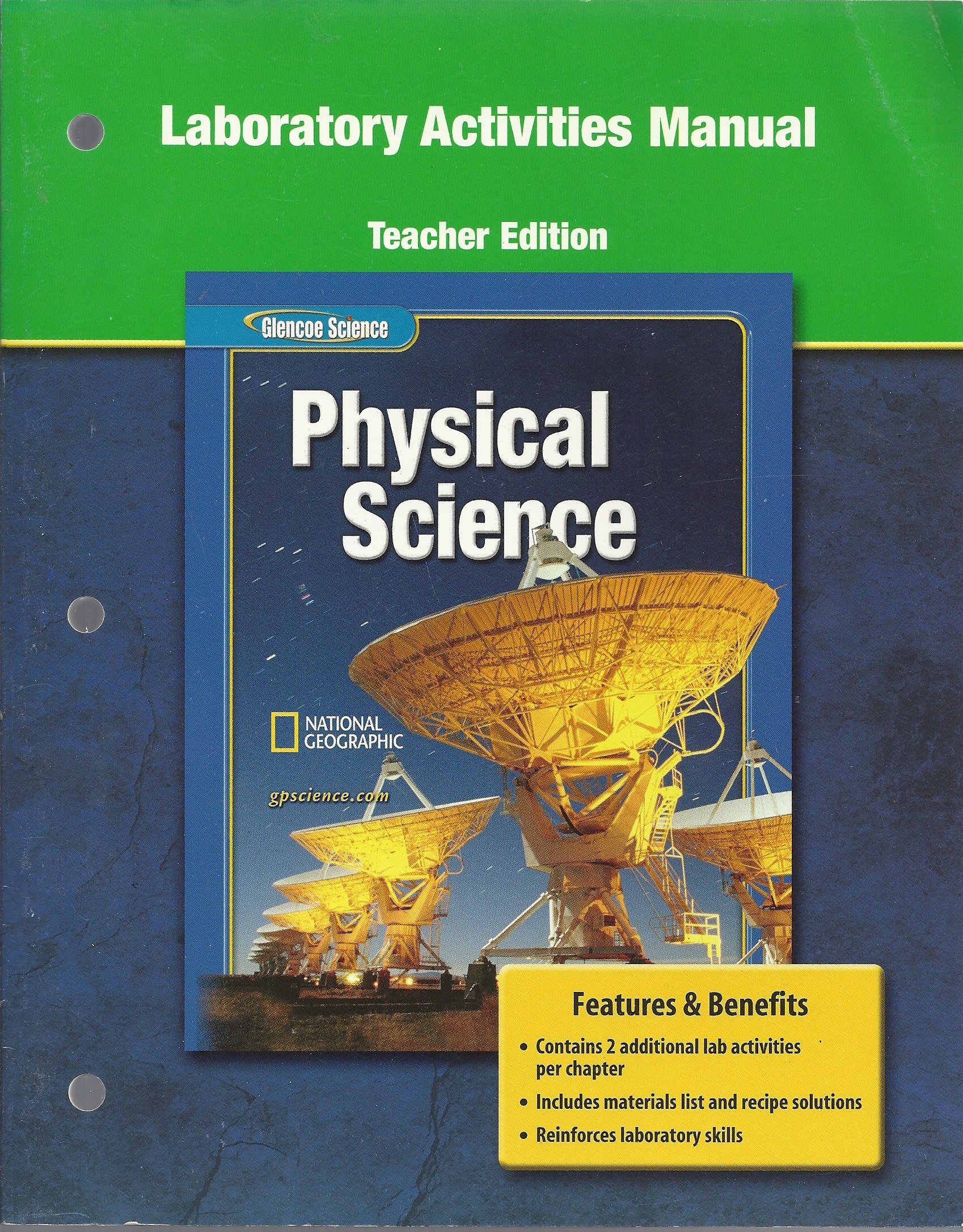 "Laboratory Activities Manual (Teacher Edition) for Glencoe ""Physcial  Science"": 9780078660856: Amazon.com: Books"