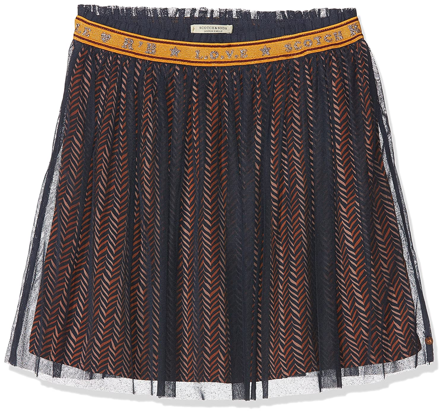 Scotch & Soda Elasticated Tulle Skirt with Allover Printed Woven Lining, Gonna Bambina Scotch & Soda RŽBelle 147106