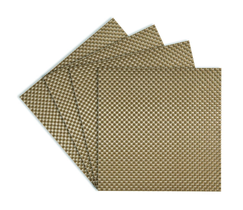 Amazon.com: Heavy Weight Square 14 Inch Metallic Woven Vinyl Placemat,  Black, Set Of 4: Home U0026 Kitchen
