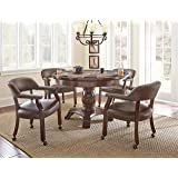 Steve Silver Company Tournament Dining and Game Table, Brown