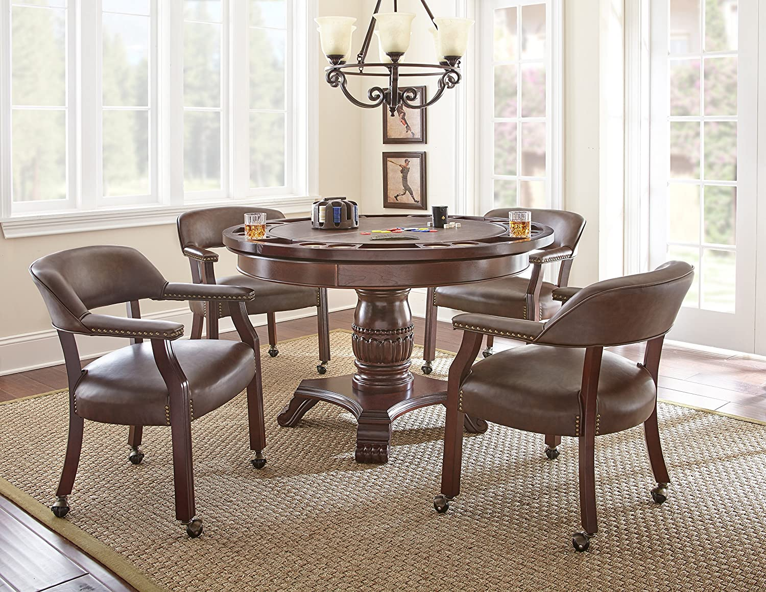 019c4bd803e Amazon.com - Steve Silver Company Tournament Dining and Game Table ...