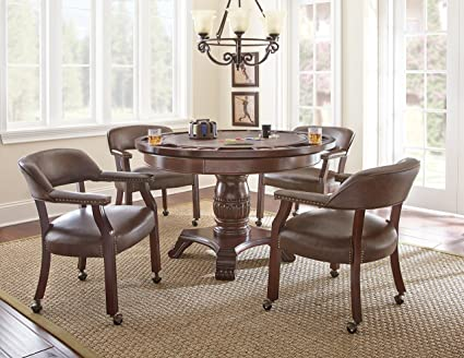 Amazon Com Steve Silver Company Tournament Dining And Game Table