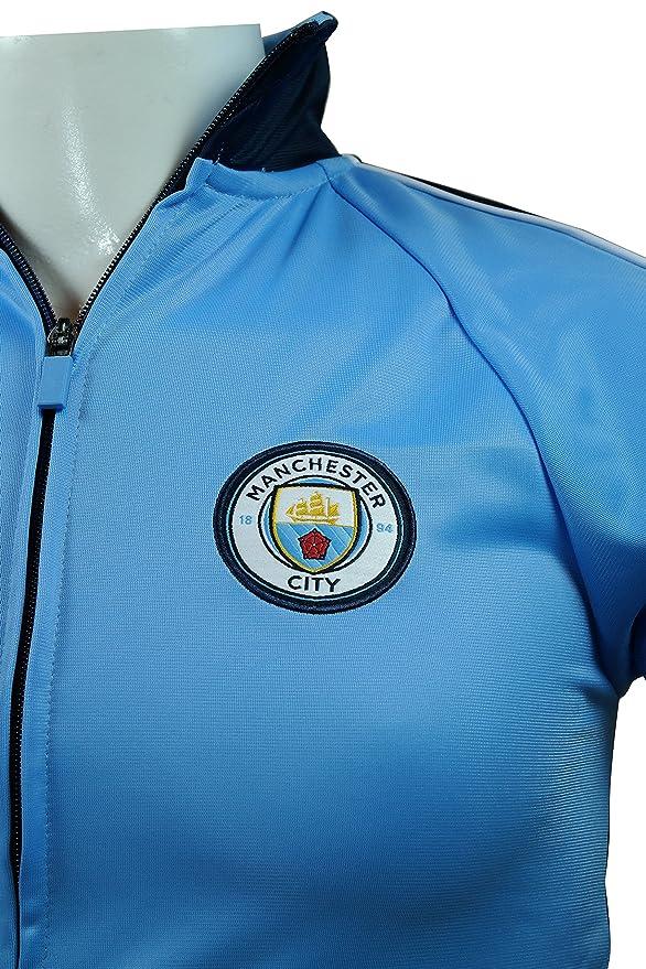 Manchester City Oficial Licencia fútbol fútbol jóvenes Chaqueta de ...