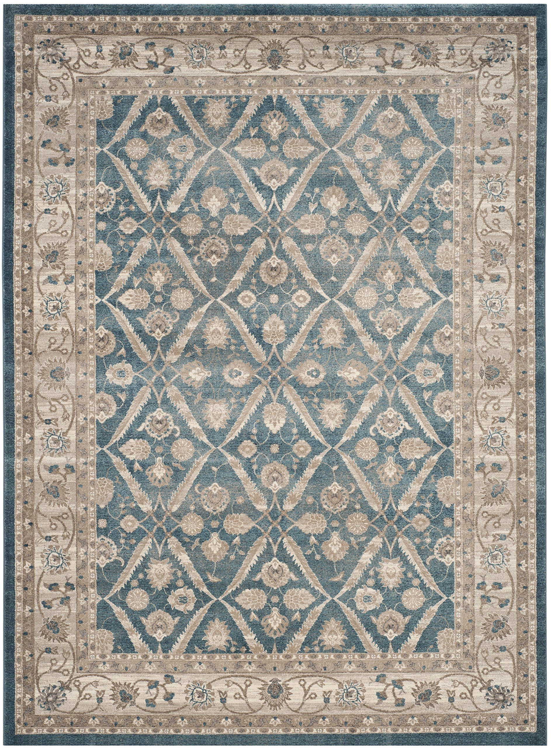 Safavieh Sofia Collection SOF378C Vintage Blue and Beige Distressed Area Rug (8' x 11') by Safavieh
