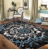 "Rugshop Modern Large Floral Pattern Area Rug, 5' 3"" x 7' 3"", Gray"