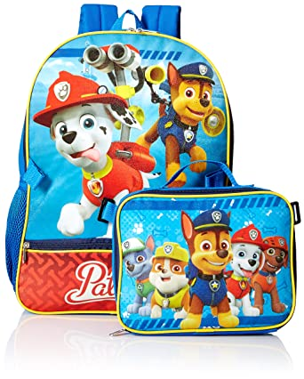 Amazon.com | Nickelodeon Boys' Paw Patrol Backpack with Lunch ...