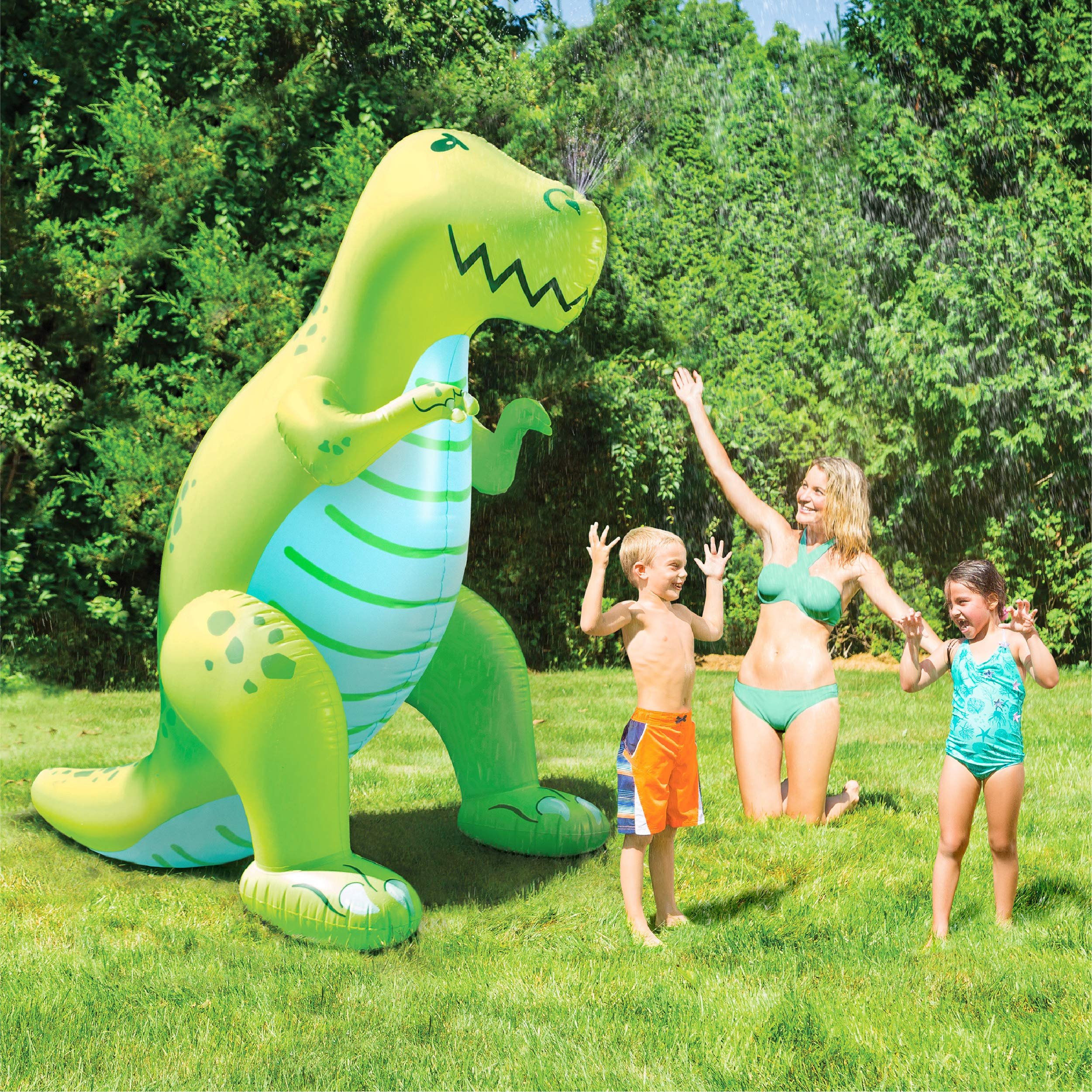 BigMouth Inc. Ginormous Inflatable Green Dinosaur Yard Summer Sprinkler, Stands Over 6 Feet Tall, Perfect for Summer Fun by BigMouth Inc (Image #8)