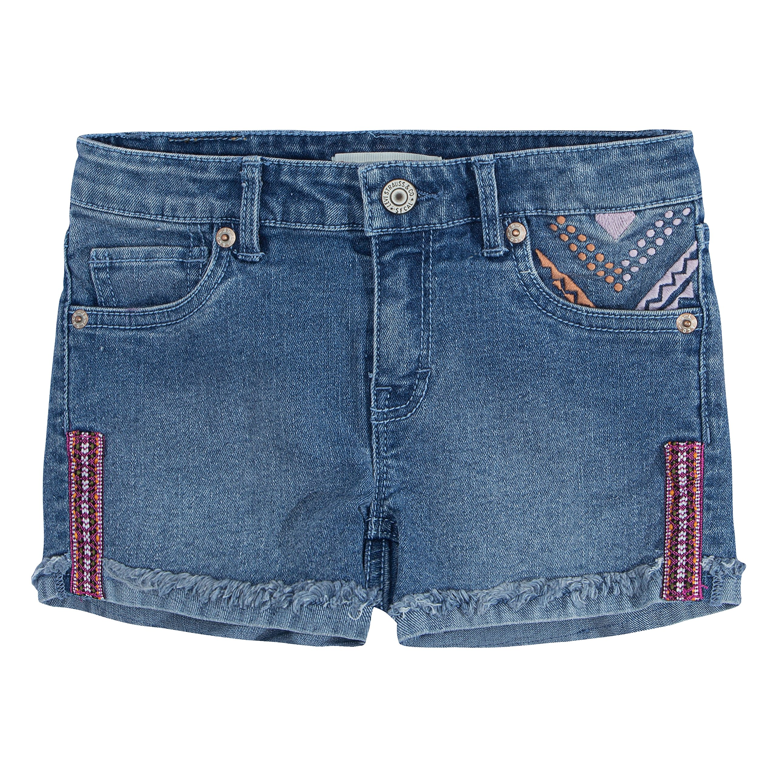 Levi's Girls' Denim Shorty Shorts