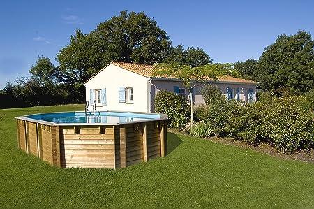 Piscina de madera GRE ovalada Vermela Wooden Pool GRE 790090: Amazon.es: Juguetes y juegos