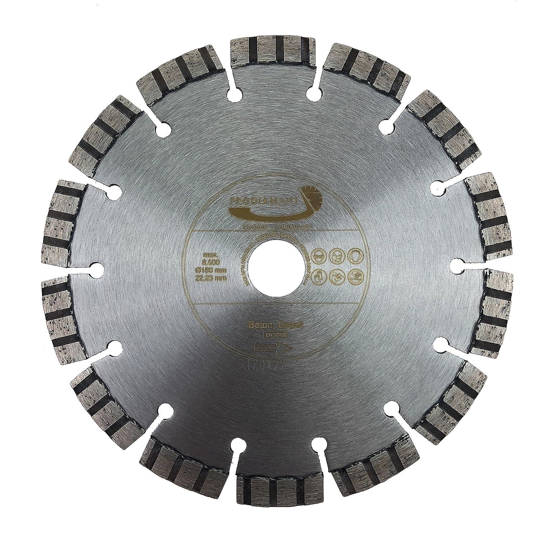 PRODIAMANT Premium Diamant-Trennscheibe Beton Laser 125 mm x 22, 2 mm Diamanttrennscheibe PDX821.711 125mm fü r allgemeine Betonerzeugnisse passend fü r Winkelschleifer