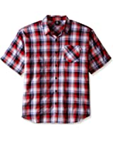 Ecko Unlimited Men's Big and Tall Plaid Short Sleeve Woven Shirts