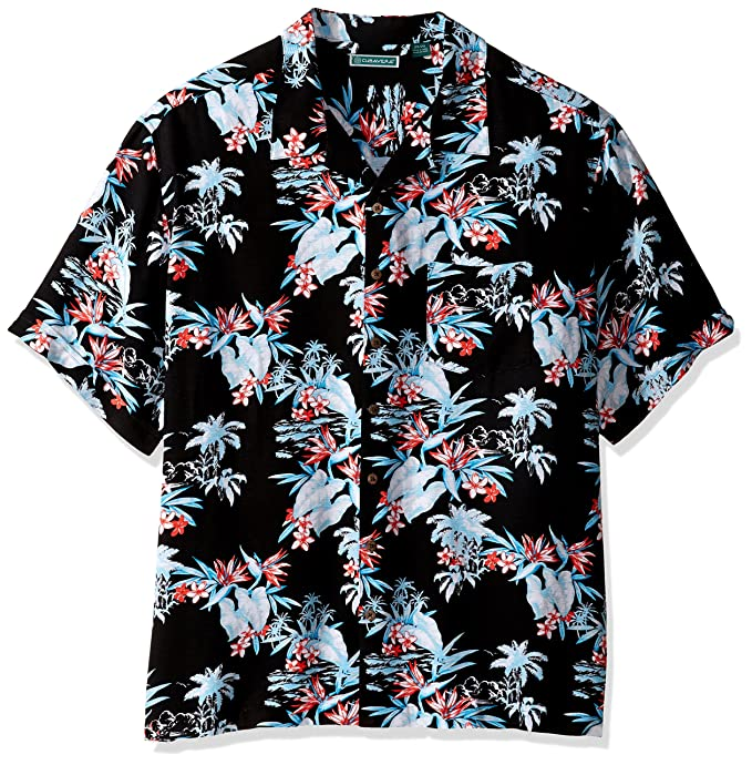 be63df52791 Cubavera Men's Short Sleeve 100% Rayon Tropical Floral Print Cuban Camp  Shirt