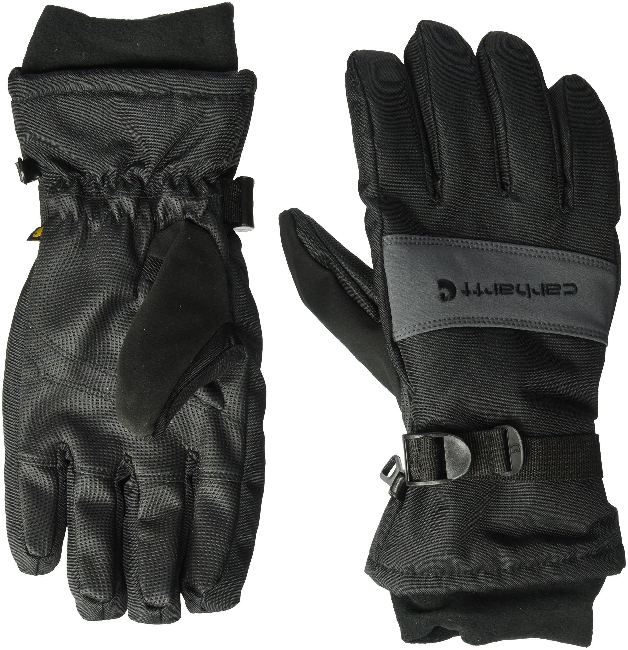 Carhartt Men's W.p. Waterproof Insulated Work Glove, black/Grey, Medium