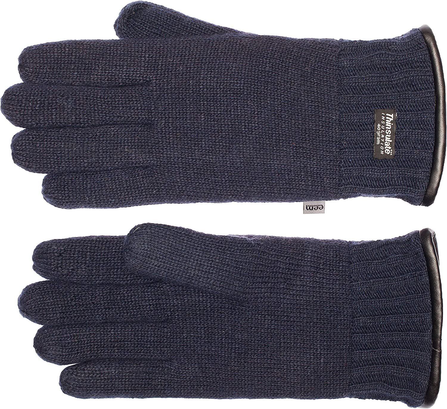 EEM Mens Knitted Gloves LASSE with Thinsulate thermal lining