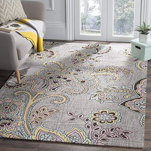 Safavieh Allure Collection ALR310A Handmade Grey and Gold Premium Wool Area Rug 8' x 10'