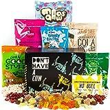 Ce coffret cadeau de bonbons végétaliens This Box Rocks contenant 6 sachets de bonbons sans gélatine dans une charmante boîte