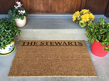 Qualtry Personalized Door Mats Outside   Custom Doormat Outdoor Beach  Welcome Mat (Large Size,