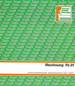 Rechnungsformulare selbstdurchschreibend 3fach, 2/3 DIN A4 FS 31 ...