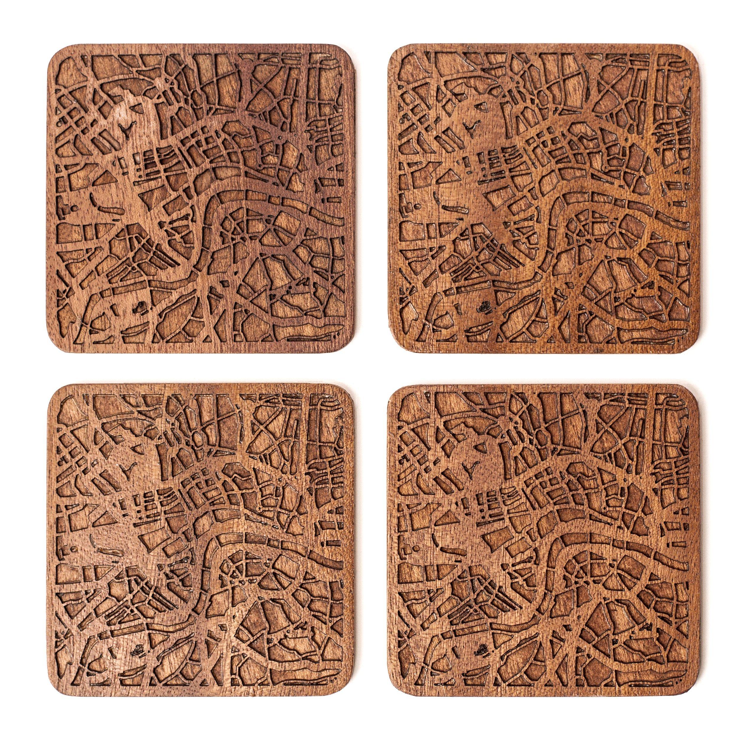 London Map Coaster by O3 Design Studio, Set Of