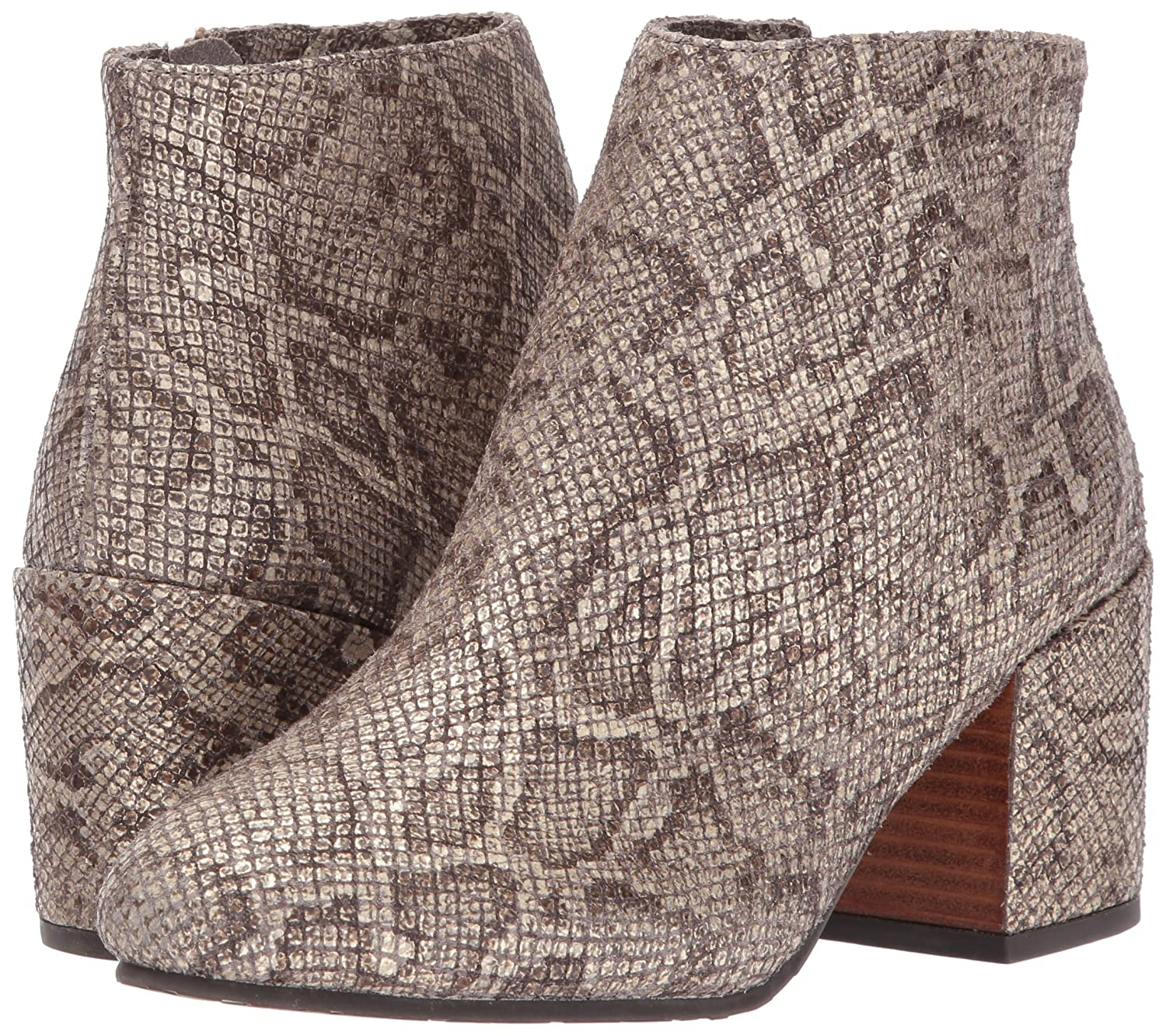 Gentle Souls by Kenneth Cole Women's Blaise Ankle Bootie with Side Zip, Covered Block Heel Emb Ankle Bootie B06XXLM534 5 B(M) US|Antique Gold