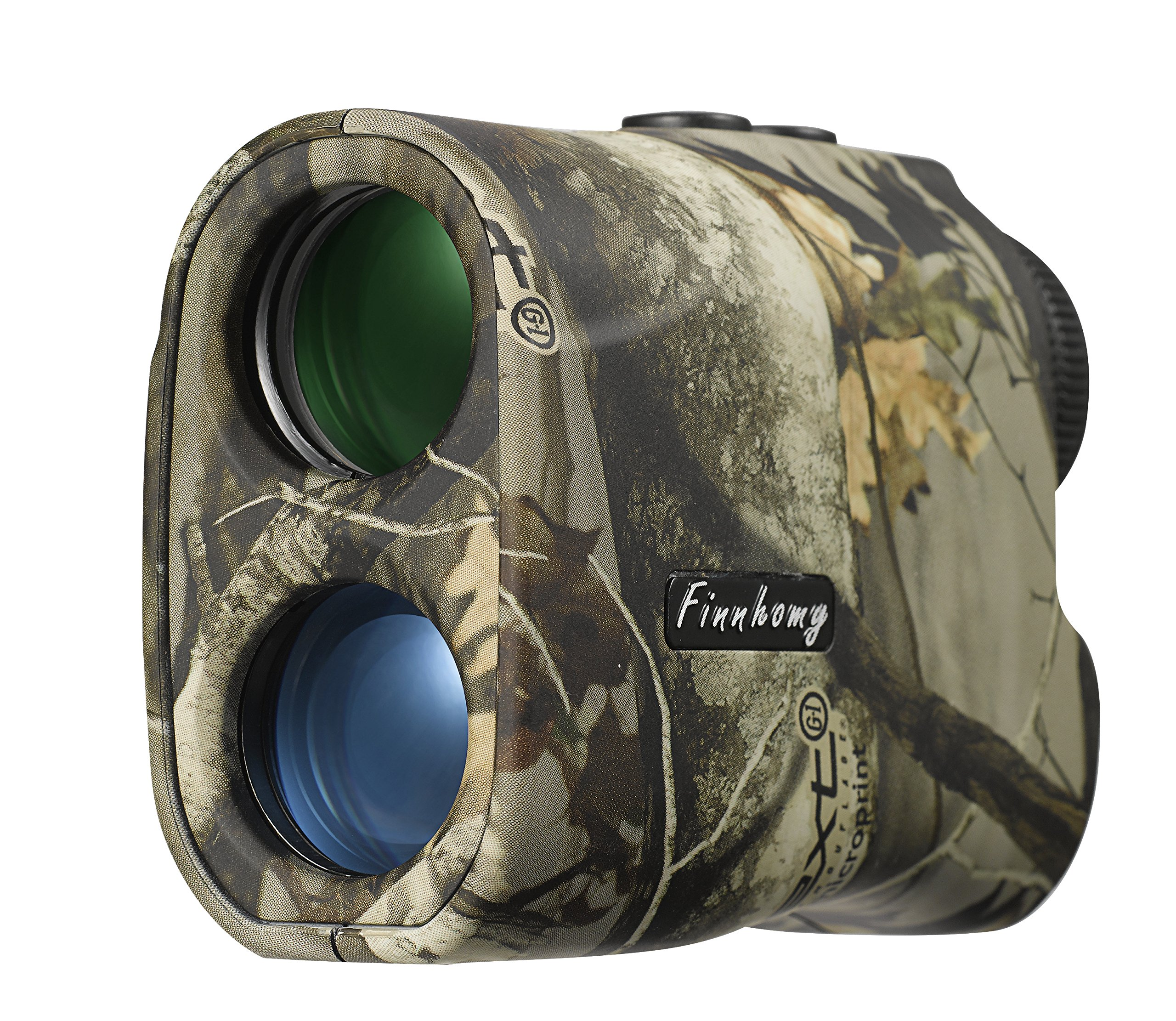 Finnhomy 6 x 25mm Laser Binocular Rangefinder Distance Range Finder Speed Distance Measurement Scope 600 Yards Outdoor Activity Hunting Golf Racing Climbing Navigation Forestry Waterproof Free Battery