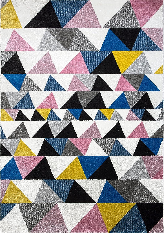 Art For Kids–Scandi soggiorno scandinavo moderno tappeto, multicolore, 120x 170cm TAP35M