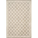 Safavieh Amherst Collection AMT422S Wheat and Beige Indoor/Outdoor Area Rug (4' x 6')
