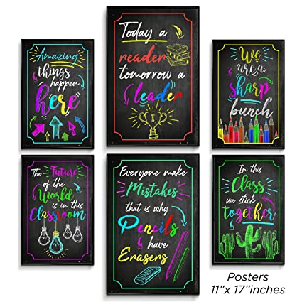 Motivational Posters For Classroom Inspirational Wall Art Office Decorations Motivational Wall Art Inspirational Quotes Kids Room Decor Perfect