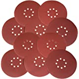 WEN 6369SP120 Drywall Sander 120-Grit Hook and Loop 9-Inch Sandpaper (10 Pack)