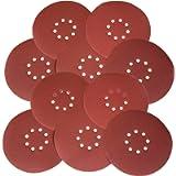 WEN 6369SP120 Drywall Sander 120-Grit Hook and Loop 9-Inch Sandpaper (10 Pack)