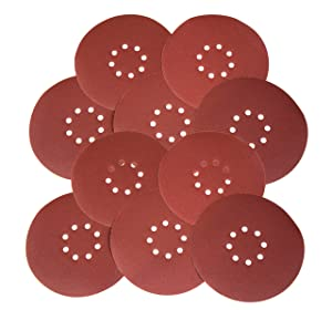 "WEN 6369SP240 Drywall Sander 240-Grit Hook & Loop 9"" Sandpaper, 10 Pack"