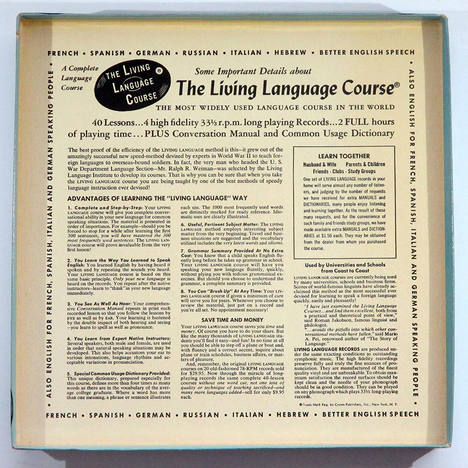 The Living Language Course Living SPANISH A Complete Language - The most complete language in the world