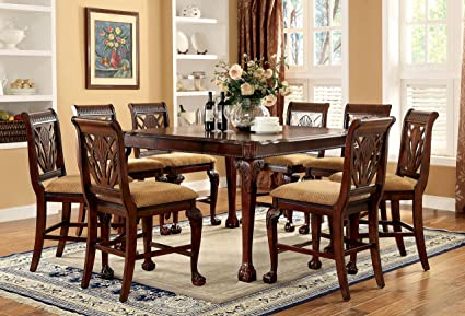 Lovely 247SHOPATHOME IDF 3185PT 9PC Dining Room Sets, 9 Piece Set