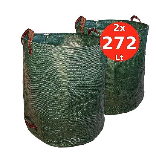 7DOO Sacos Jardin Set 2X 272L 2da Generación, Bolsas Basura Jardin, Bag, Cesto Jardin, Herramientas Jardinería Kit Jardineria Productos De Jardineria ...