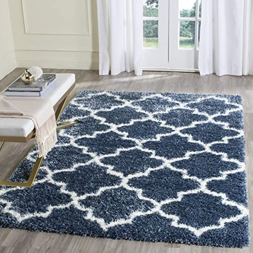Safavieh Montreal Shag Collection SGM832A Moroccan Trellis 2-inch Thick Area Rug