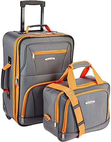 9516b7412 Rockland Luggage 2 Piece Set, Charcoal, One Size