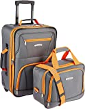 Rockland 2 Pc Luggage Set, Charcoal (Gray) - F102