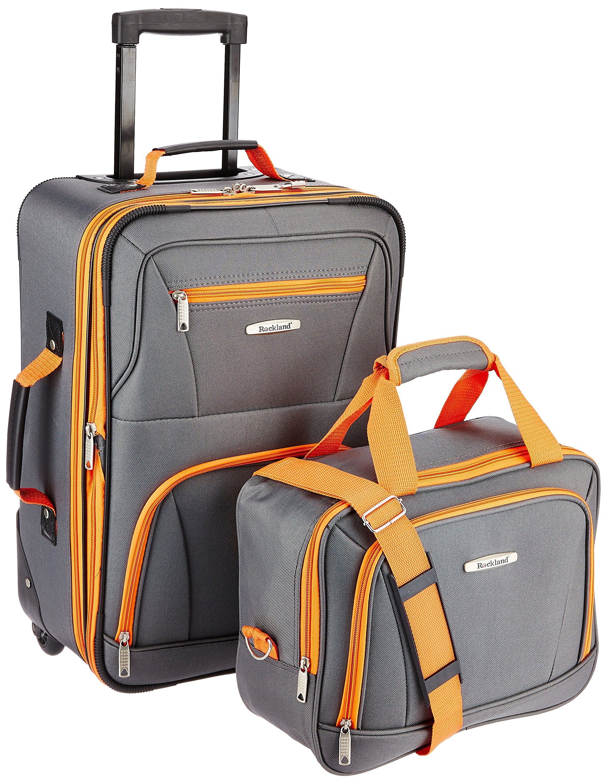 Rockland Luggage 2 Piece Set, Charcoal, One Size by Rockland