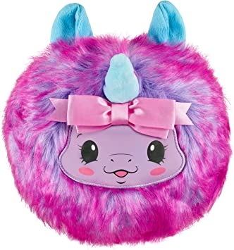 """Pikmi Pops Cheeki Puffs - Cheekles The Unicorn - 1pc Large 7"""" Collectible Scented Shimmer Plush Toy in Perfume with Surprises"""