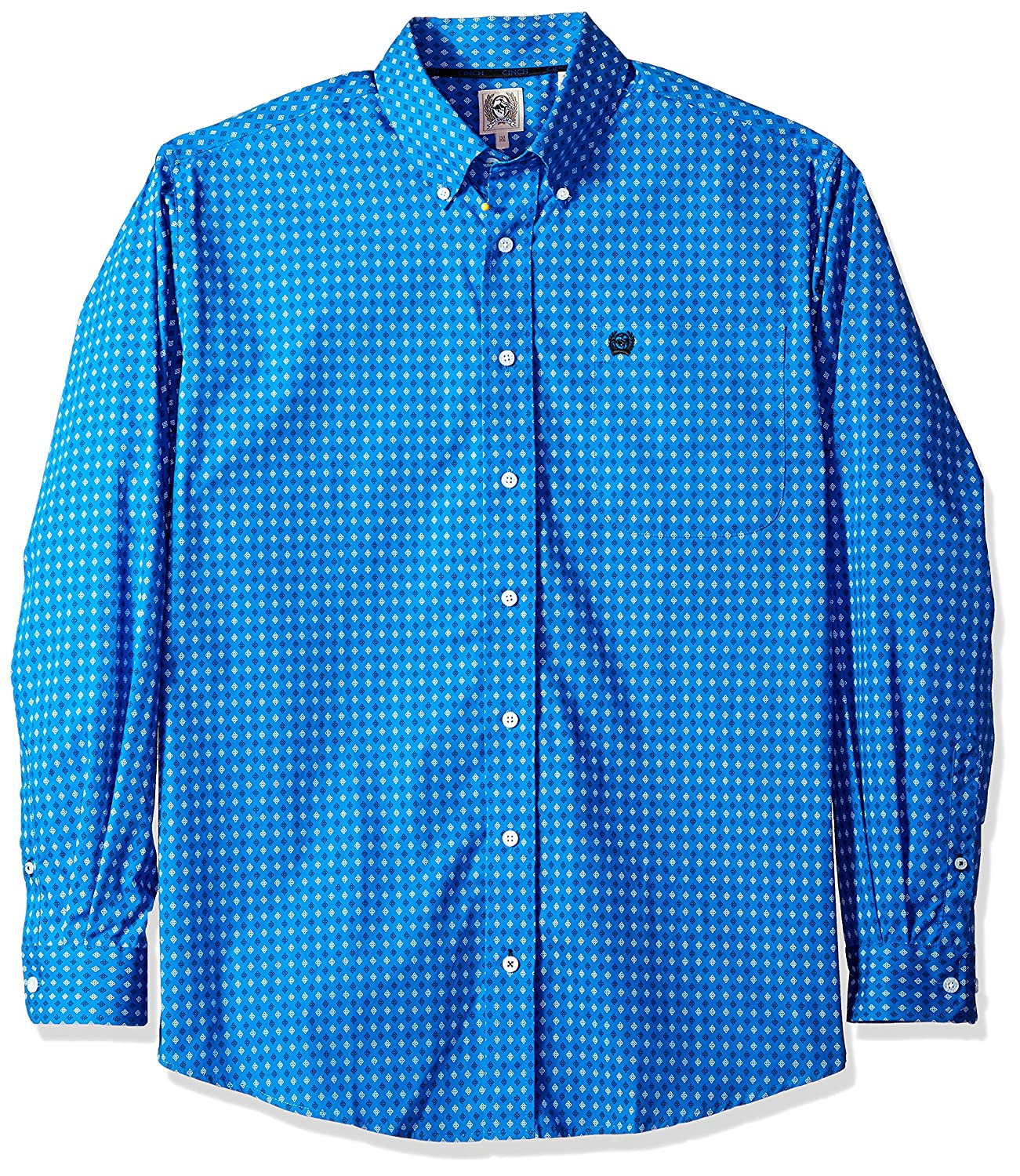 Cinch SHIRT メンズ B0753HB849 Large|Royal Diamond Royal Diamond Large