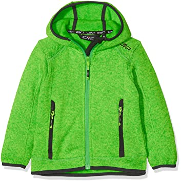 6dc67431e8 CMP Fleece Jacket Fix Hood 3H60844 Neongreen 92: Amazon.co.uk ...