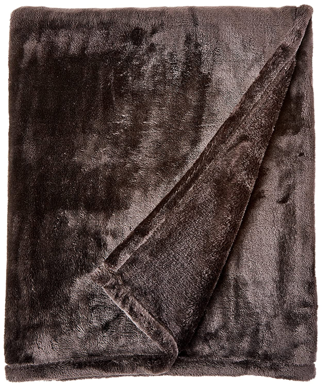 Northpoint Cashmere Plush Velvet Throw, Black