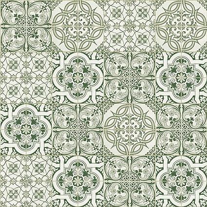 Danslemur 825 Papier Peint Tnt Texture Carrelage Couleur Vert Amazon Fr Bricolage