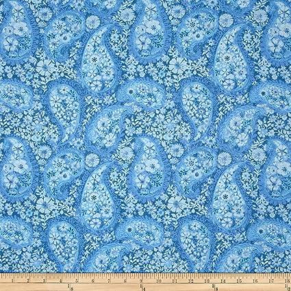 Amazoncom Santee Print Works Jakarta Paisley Periwinkle Fabric By