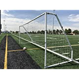 18.5 x 6.5 Heavy Duty Steel Soccer Goal w//Net Official Youth Size 18.5 x 6.5 x 5 Ft Regulation Youth FIFA//MLS League Size Goals Professional Portable Practice Training Aid 18.5x6.5 Soccer Goal